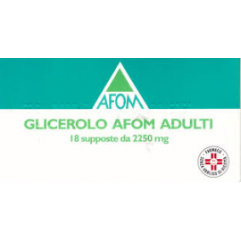 GLICEROLO AFOM*AD 18SUPP 2250MG
